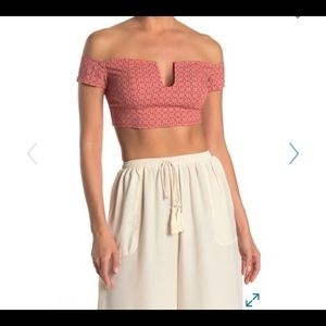 NWT Free people Off the shoulder crop top